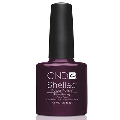 Picture of CND Shellac Gel Nail Polish Plum Paisley - 1/4 oz (7.39 ml)