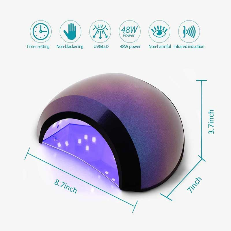 Picture of Aokitec UV LED Nail Lamp 48W Gel Curing Lamp