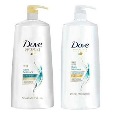 Picture of Dove Nutritive Solutions Daily Moisture, Shampoo and Conditioner Duo Set, 40 Ounce Pump Bottles
