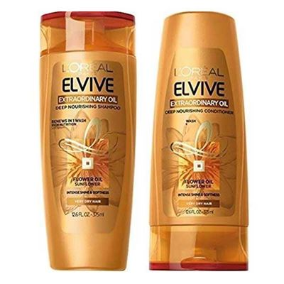 Picture of LOreal Paris Elvive Extraordinary Oil Deep Nourishing Shampoo and Conditioner Set 12.6 fl. Oz